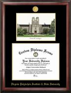 Virginia Tech Hokies Gold Embossed Diploma Frame with Lithograph