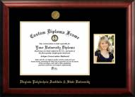Virginia Tech Hokies Gold Embossed Diploma Frame with Portrait