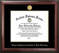 Virginia Tech Hokies Gold Embossed Diploma Frame
