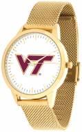 Virginia Tech Hokies Gold Mesh Statement Watch