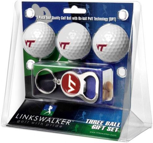 Virginia Tech Hokies Golf Ball Gift Pack with Key Chain