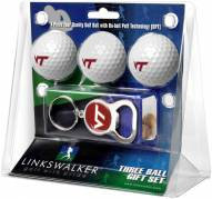 Virginia Tech Hokies Golf Ball Gift Pack with Key Chain