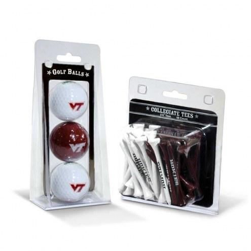 Virginia Tech Hokies Golf Ball & Tee Pack