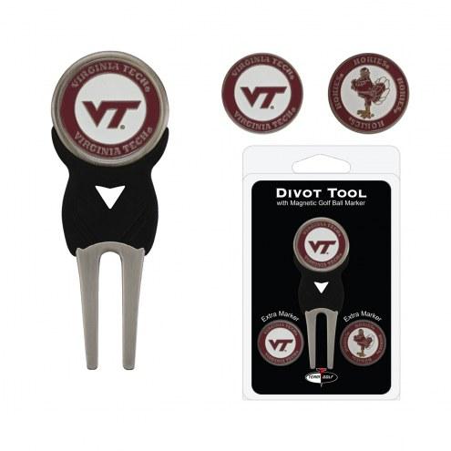 Virginia Tech Hokies Golf Divot Tool Pack