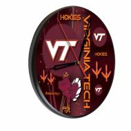 Virginia Tech Hokies Digitally Printed Wood Clock