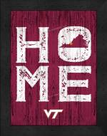 Virginia Tech Hokies Home Away From Home Wall Decor