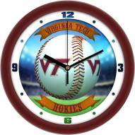 Virginia Tech Hokies Home Run Wall Clock