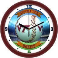 Virginia Tech Hokies Home Run Wall Clock