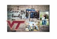 Virginia Tech Hokies I Love My Family Clip Frame