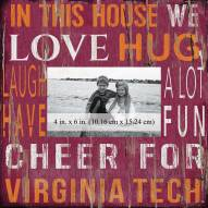 """Virginia Tech Hokies In This House 10"""" x 10"""" Picture Frame"""