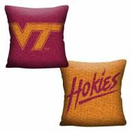 Virginia Tech Hokies Invert Woven Pillow