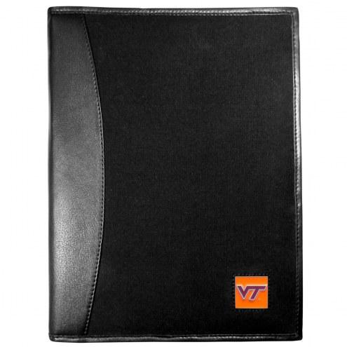 Virginia Tech Hokies Leather and Canvas Padfolio