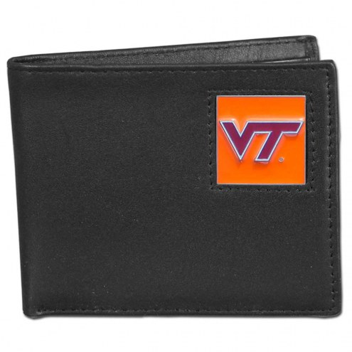 Virginia Tech Hokies Leather Bi-fold Wallet in Gift Box