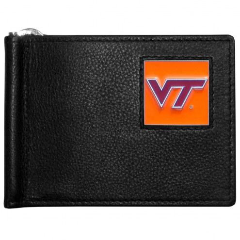 Virginia Tech Hokies Leather Bill Clip Wallet