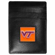 Virginia Tech Hokies Leather Money Clip/Cardholder in Gift Box