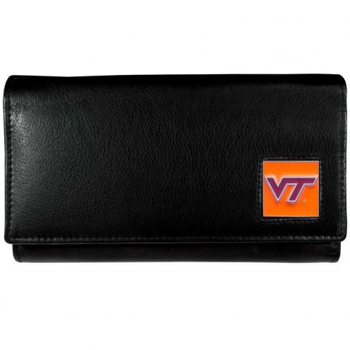 Virginia Tech Hokies Leather Women's Wallet