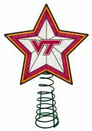 Virginia Tech Hokies Light Up Art Glass Tree Topper