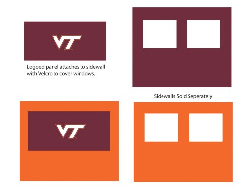 Virginia Tech Hokies Logo Canopy Sidewall Panel (Attaches to Window Sidewall)
