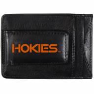 Virginia Tech Hokies Logo Leather Cash and Cardholder