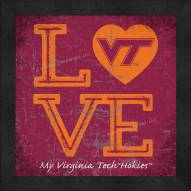 Virginia Tech Hokies Love My Team Color Wall Decor