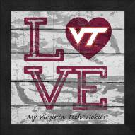 Virginia Tech Hokies Love My Team Square Wall Decor