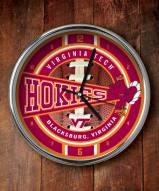 Virginia Tech Hokies NCAA Chrome Wall Clock