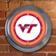 Virginia Tech Hokies NCAA Neon Wall Clock