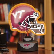 Virginia Tech Hokies Neon Helmet Desk Lamp