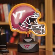 Virginia Tech Hokies Neon Helmet Desk Lamp