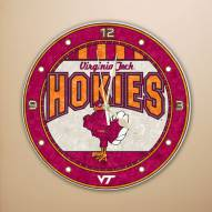 Virginia Tech Hokies NCAA Stained Glass Wall Clock