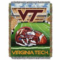Virginia Tech Hokies NCAA Woven Tapestry Throw / Blanket
