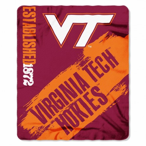 Virginia Tech Hokies Painted Fleece Blanket