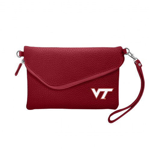 Virginia Tech Hokies Pebble Fold Over Purse
