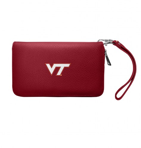 Virginia Tech Hokies Pebble Organizer Wallet