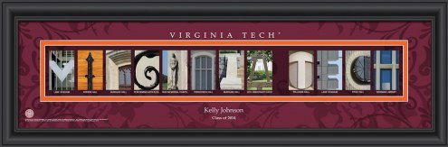 Virginia Tech Hokies Personalized Campus Letter Art