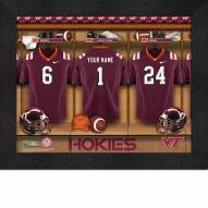 Virginia Tech Hokies Personalized Locker Room 11 x 14 Framed Photograph