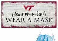 Virginia Tech Hokies Please Wear Your Mask Sign