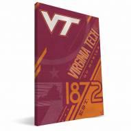 Virginia Tech Hokies Retro Canvas Print