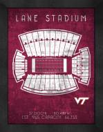 Virginia Tech Hokies Retro Stadium Chart Framed Print