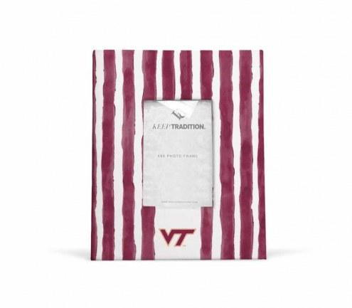 Virginia Tech Hokies School Stripes Picture Frame
