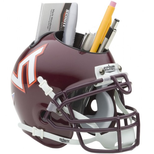 Virginia Tech Hokies Schutt Football Helmet Desk Caddy