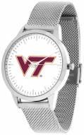 Virginia Tech Hokies Silver Mesh Statement Watch