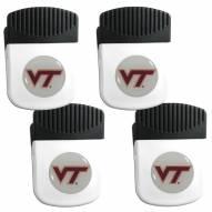 Virginia Tech Hokies 4 Pack Chip Clip Magnet with Bottle Opener