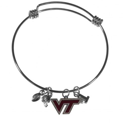 Virginia Tech Hokies Charm Bangle Bracelet