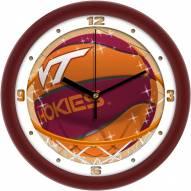 Virginia Tech Hokies Slam Dunk Wall Clock