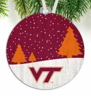 Virginia Tech Hokies Snow Scene Ornament
