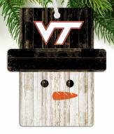 Virginia Tech Hokies Snowman Ornament