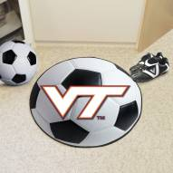 Virginia Tech Hokies Soccer Ball Mat