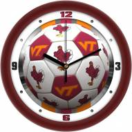 Virginia Tech Hokies Soccer Wall Clock