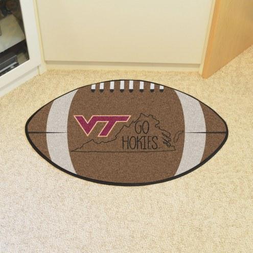 Virginia Tech Hokies Southern Style Football Floor Mat